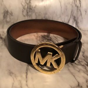 Michael Kors MK dark brown belt